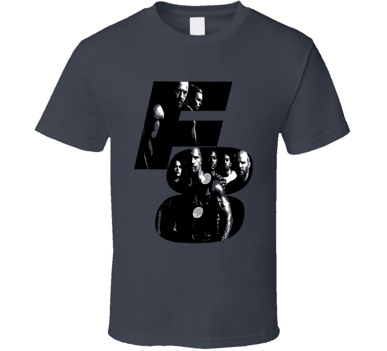 F8 The Fate of the Furious Vin Diesel The Rock Custom Movie Fun Fan T Shirt
