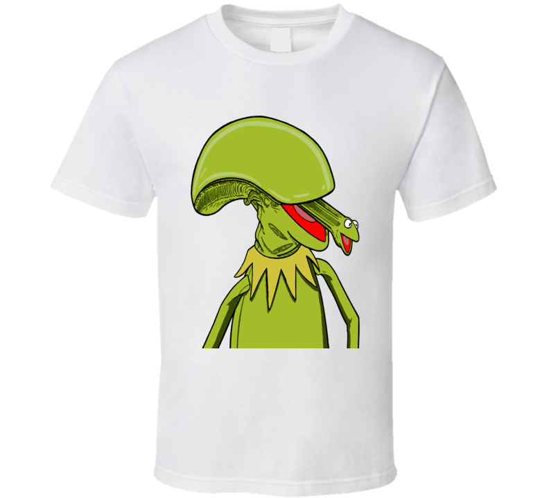 Kermit Alien Xenomorph Mash Up Movie Tv Show Fun Fan T Shirt