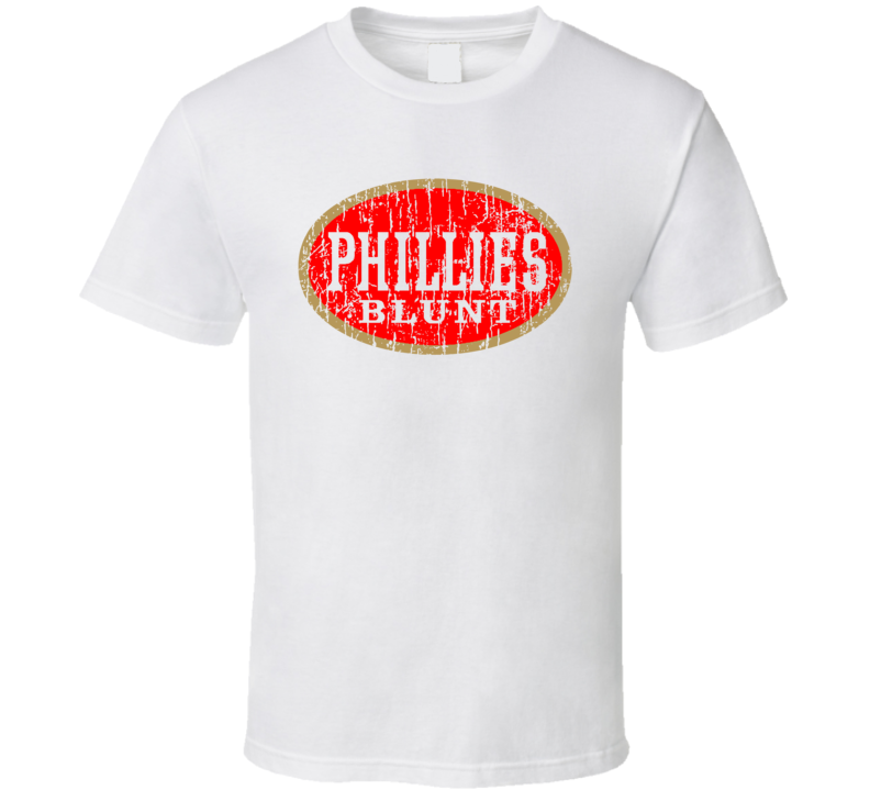 Phillies Blunt Cigar Weed Fat Head Spliff O G Distressed Fun T Shirt