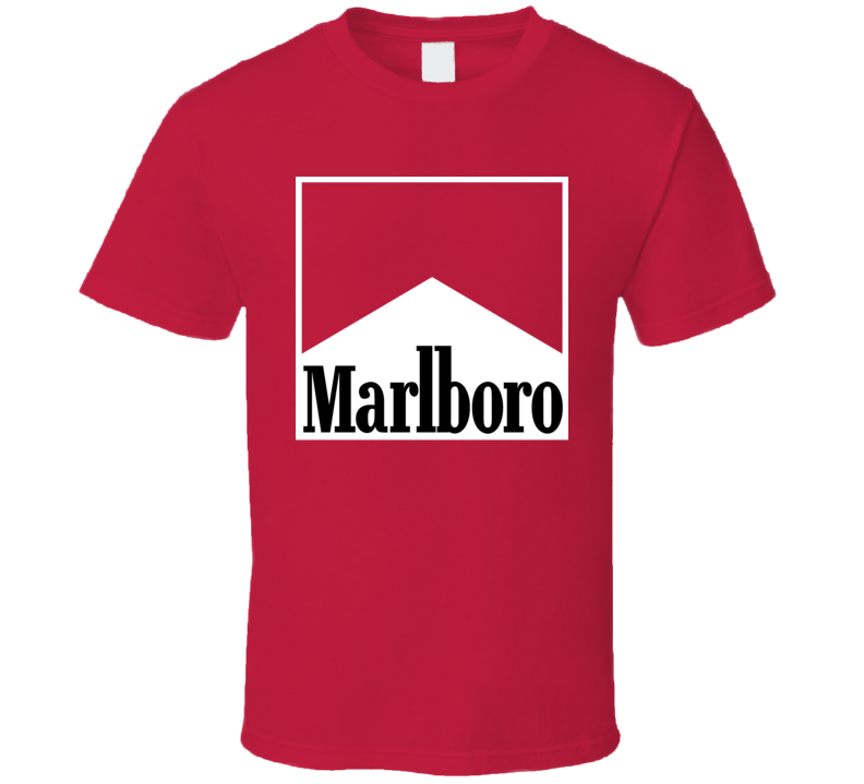 Marlboro Racing Grand Prix Smokes F1 Fan Red T Shirt