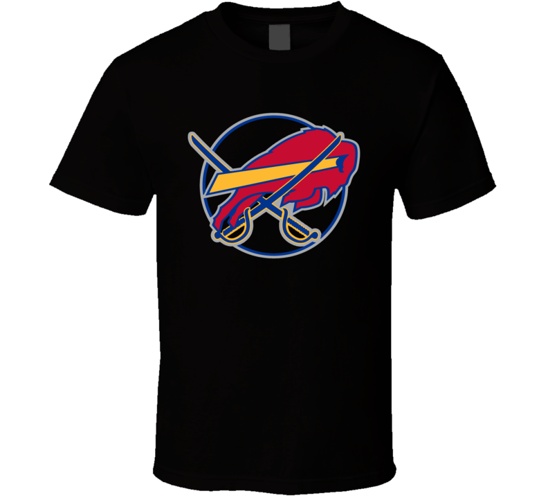 Buffalo Sport Teams Mashup Football Hockey Fun Fan T Shirt