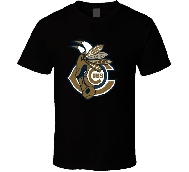 Chicago Sport Teams Mashup Football Basketball Hockey Baseball Recolor Fun Fan T Shirt