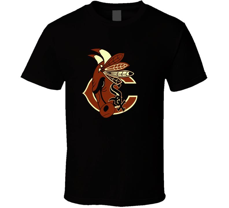 Chicago Sport Teams Mashup Football Basketball Hockey Baseball Fun Fan Rustic T Shirt