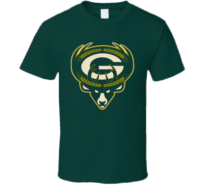 Milwaukee Green Bay Sport Teams Mashup Brewers Packers Bucks Football Basketball Baseball Fun Fan T Shirt
