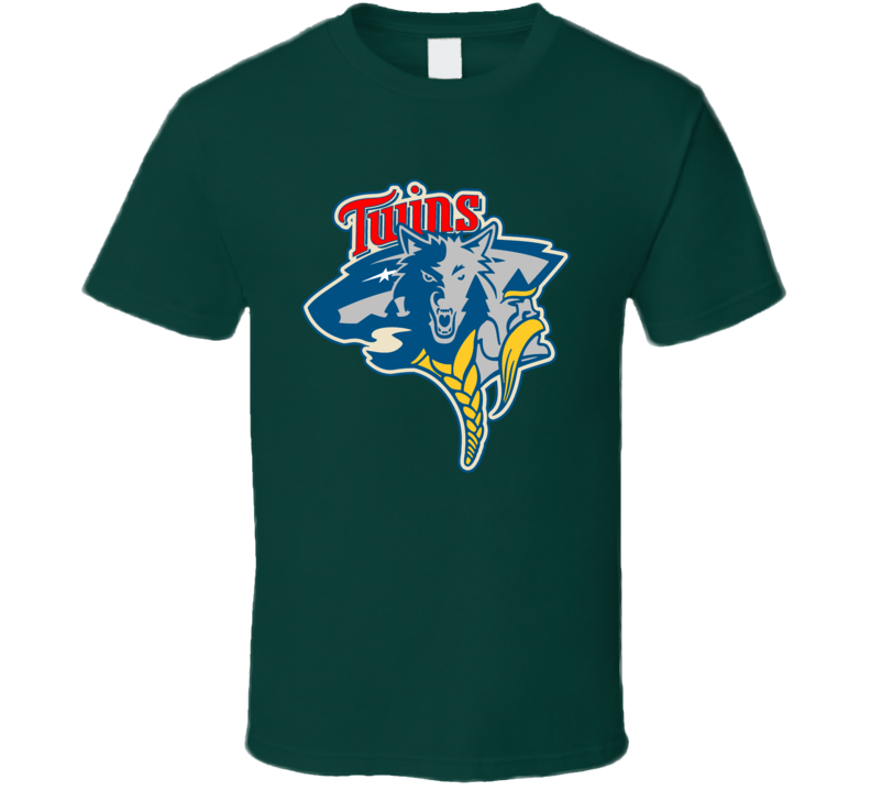 Minnesota Sport Teams Mashup Vikings Twins Wild Mavericks Football Baseball Hockey Basketball Fun Fan T Shirt