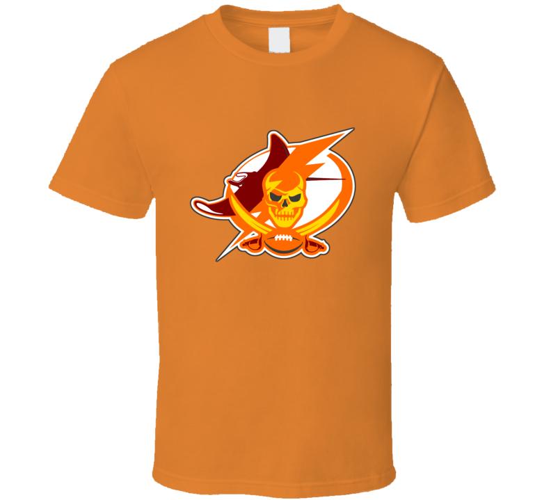 Tampa Bay Sport Teams Mashup Rays Buccaneers Lightning Baseball Football Hockey Retro Bucs Colors Fun Fan T Shirt
