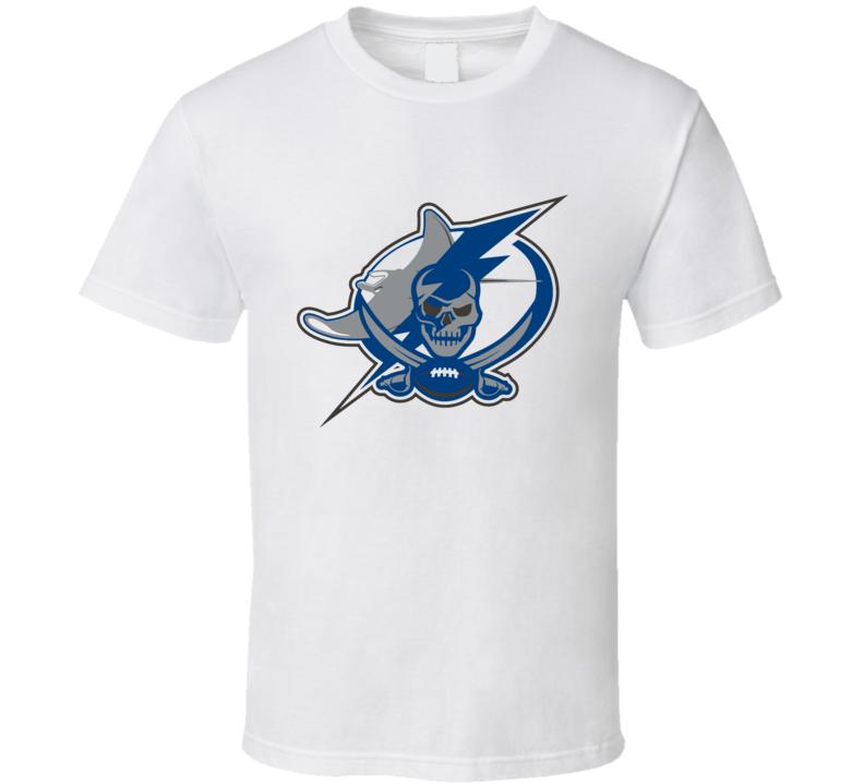 Tampa Bay Sport Teams Mashup Baseball Football Hockey Fun Fan T Shirt