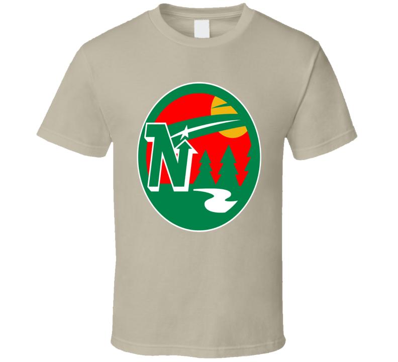 Minnesota Hockey Teams Retro North Stars Wild Mashup Logo Fun Fan T Shirt