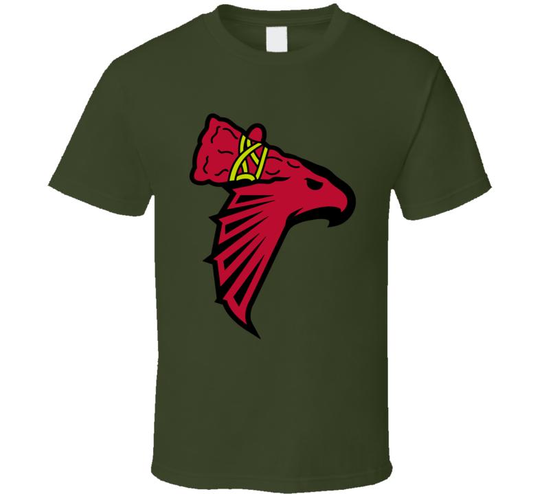 Atlanta Sport Teams Mashup Football Basketball Baseball Re Color 2 Fun Fan T Shirt