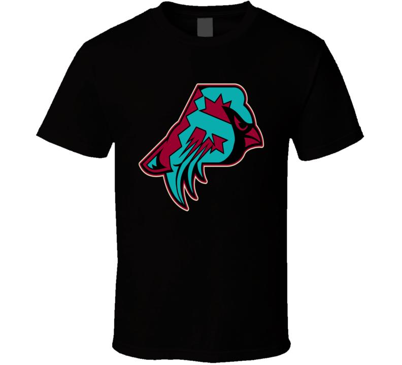Arizona Phoenix Sport Teams Mash Up Cardinals Diamondbacks Coyotes Suns Football Baseball Hockey Basketball Cool Re Color 2 Fun T Shirt