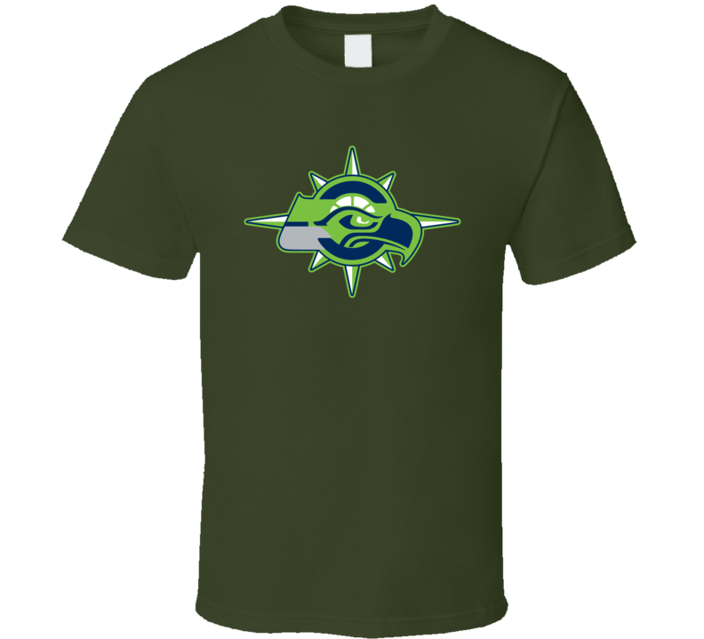 Seattle Sport Teams Mashup Football Basketball Baseball Re Color 3 Fun Fan T Shirt