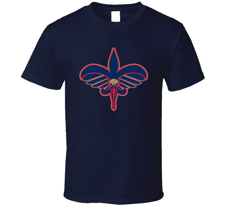 New Orleans Sport Teams Mash Up Pelicans Saints Football Basketball Cool Re Color Fun Fan T Shirt