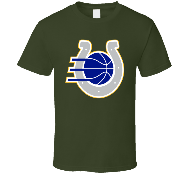 Indianapolis Sport Teams Mash Up Pacers Colts Football Basketball Cool Re Color Fun Fan T Shirt