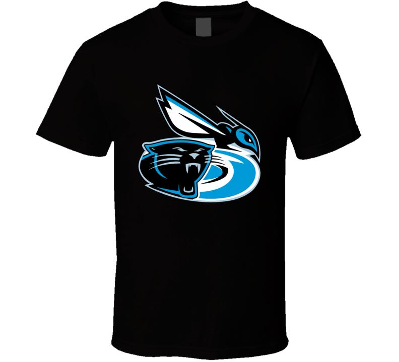 Carolina Sport Teams Mashup Football Basketball Hockey Fun Fan T Shirt