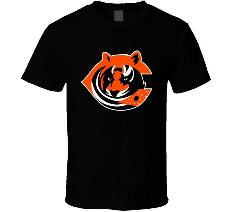 Cincinnati Sport Teams Mashup Columbus Football Hockey Baseball Fun Fan T Shirt
