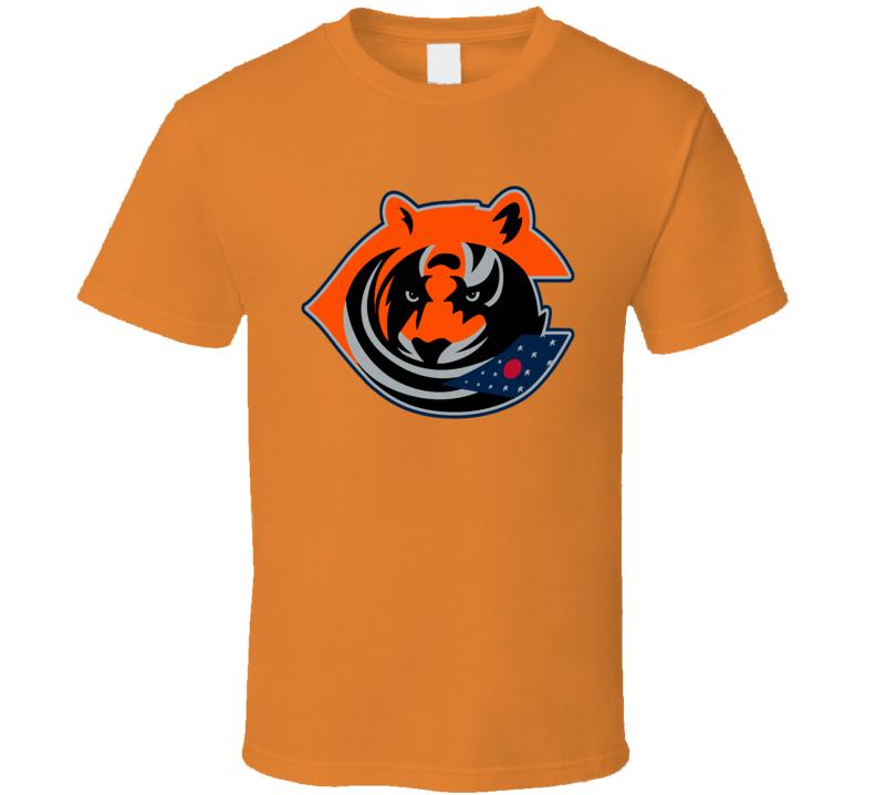 Columbus Sport Teams Mashup Cincinnati Football Hockey Baseball Re Color Fun Fan T Shirt