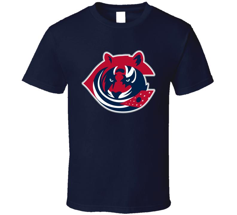 Columbus Sport Teams Mashup Cincinnati Football Hockey Baseball Re Color 2 Fun Fan T Shirt