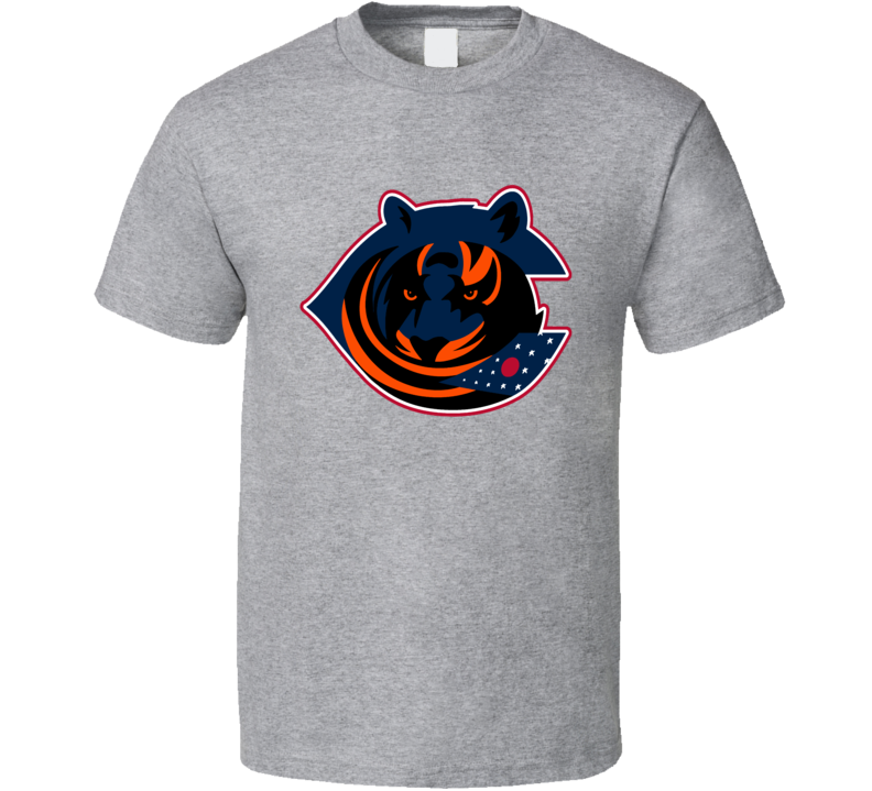 Columbus Sport Teams Mashup Cincinnati Football Hockey Baseball Re Color 3 Fun Fan T Shirt