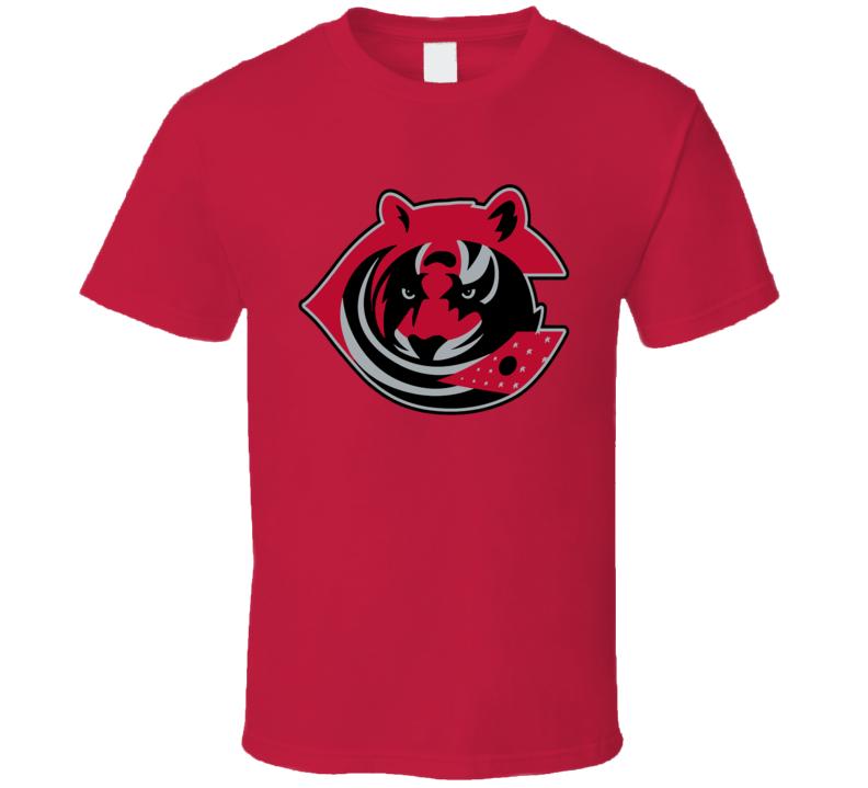 Cincinnati Sport Teams Mashup Columbus Football Hockey Baseball Re Color 4 Fun Fan T Shirt