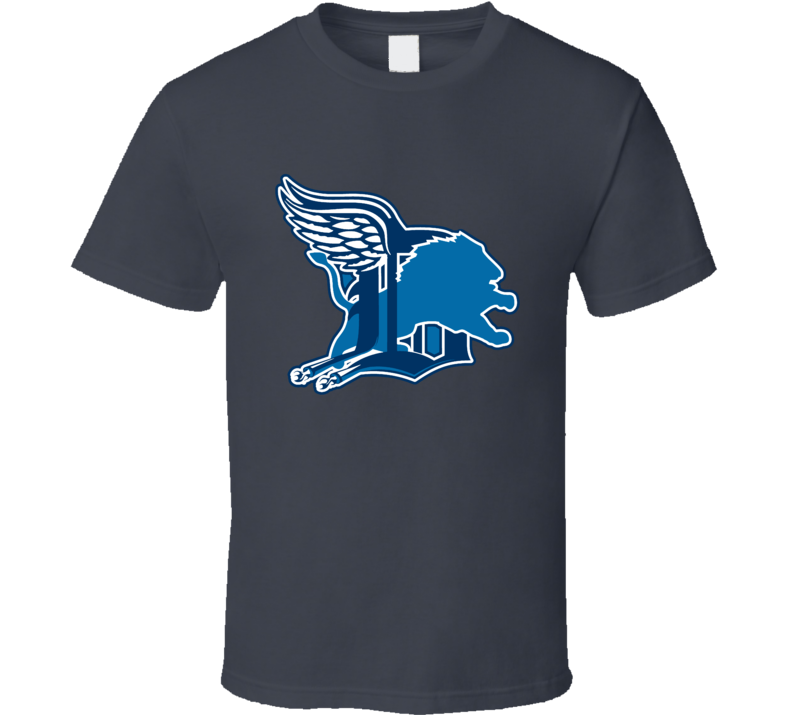 Detroit Sport Teams Mashup Football Baseball Hockey Basketball Fun Fan T Shirt