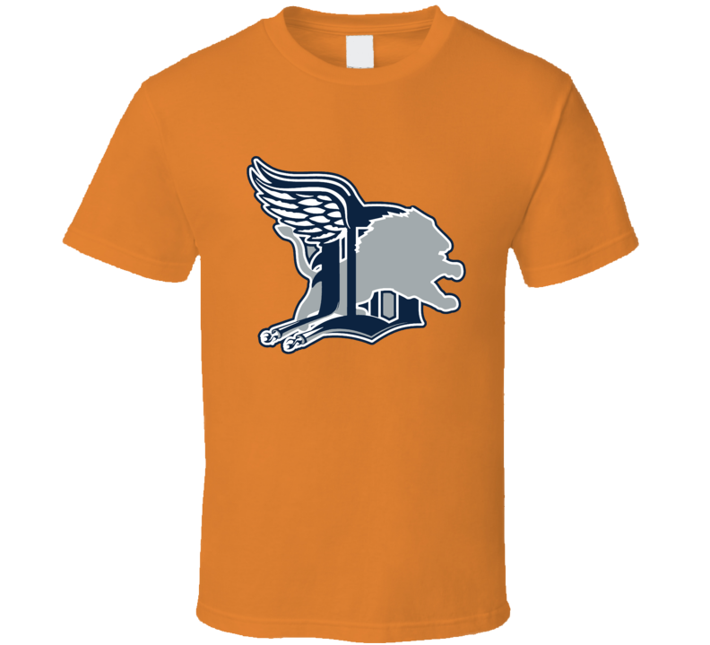 Detroit Sport Teams Mashup Football Baseball Hockey Basketball Cool Re Color 3 Fan T Shirt