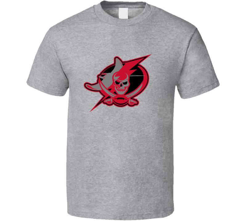 Tampa Bay Sport Teams Mashup Baseball Football Hockey Re Color 2 Fun Fan T Shirt