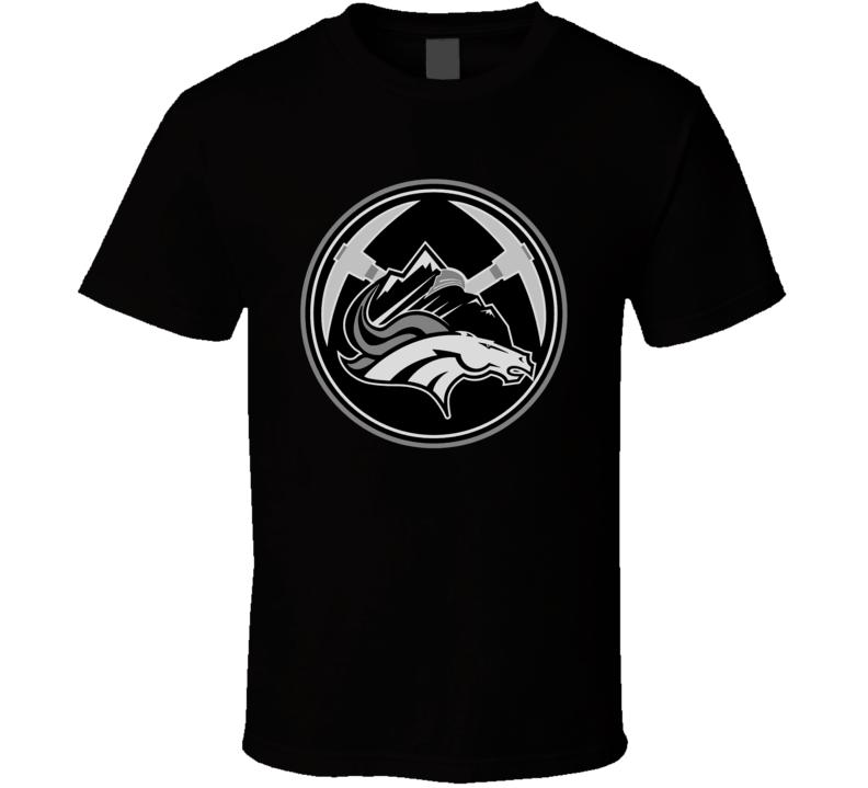Denver Colorado Sport Teams Mashup Hockey Baseball Basketball Football Cool Fun Fan T Shirt