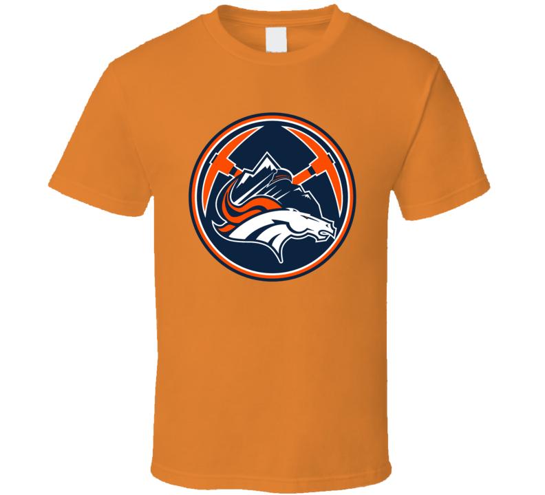Denver Colorado Sport Teams Mashup Hockey Baseball Basketball Football Re Color Fun Fan T Shirt