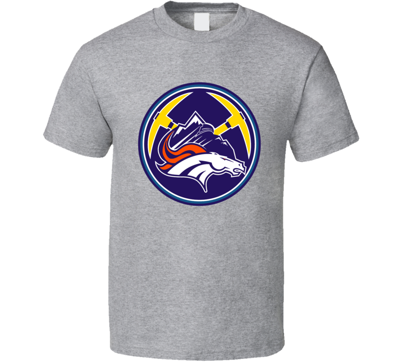 Denver Colorado Sport Teams Mashup Hockey Baseball Basketball Football Fun Fan T Shirt