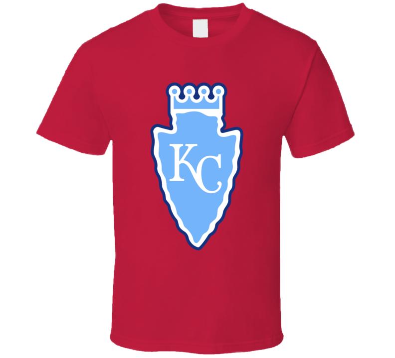 Kansas City Sport Teams Mashup Royals Chiefs Baseball Football Re Color Fun Fan T Shirt