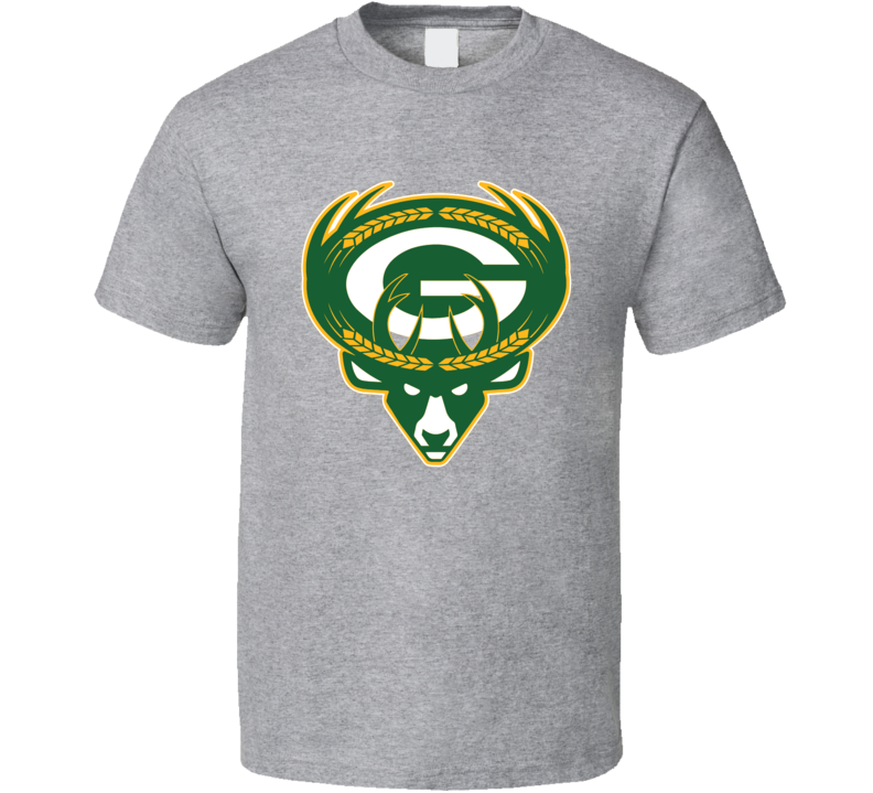 Milwaukee Green Bay Sport Teams Mashup Football Basketball Baseball Re Color Fun Fan T Shirt