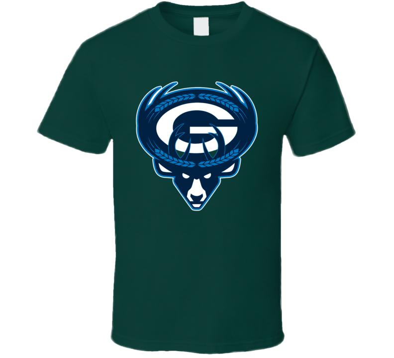 Milwaukee Green Bay Sport Teams Mashup Football Basketball Baseball Re Color 4 Fun Fan T Shirt