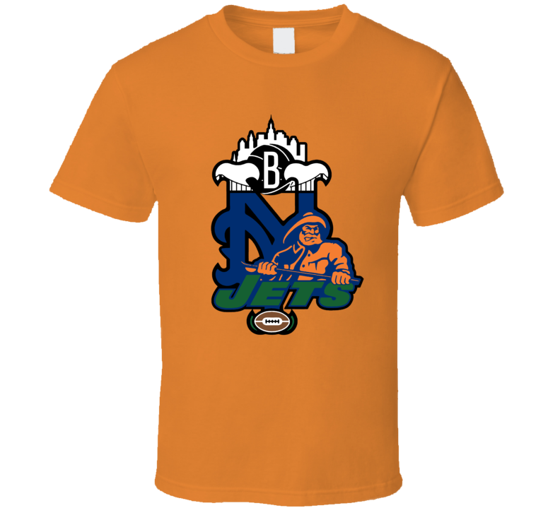 New York Sport Teams Mashup Baseball Football Hockey Basketball Re Color Fun Fan T Shirt