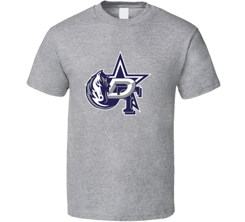 Dallas Texas Sport Teams Mashup Stars Mavericks Rangers Cowboys Football Basketball Baseball Hockey Fun Fan T Shirt