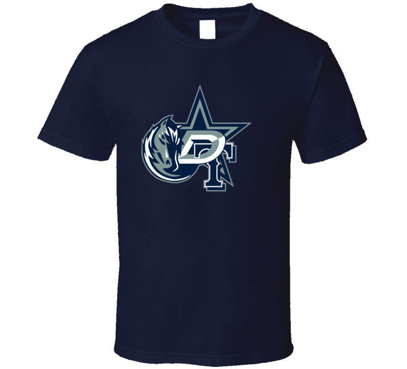 Dallas Texas Sport Teams Mashup Football Basketball Baseball Hockey Re Color 4 Fun Fan T Shirt