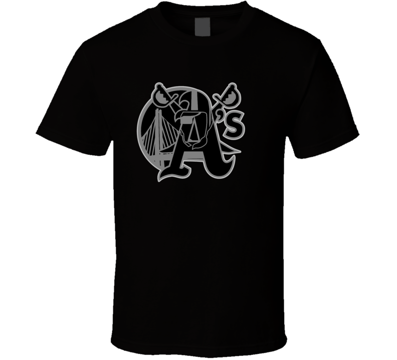Oakland Sport Teams Mashup Basketball Baseball Football Cool Fun Fan T Shirt