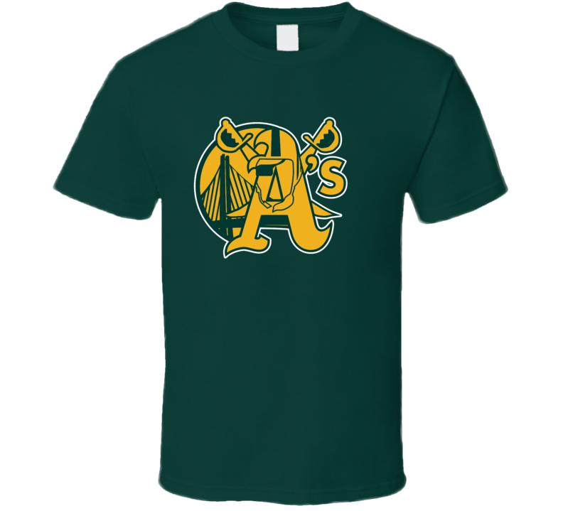 Oakland Sport Teams Mashup Basketball Baseball Football Re Color Fun Fan T Shirt