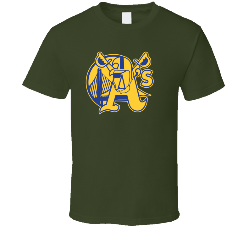 Oakland Sport Teams Mashup Basketball Baseball Football Re Color 5 Fun Fan T Shirt