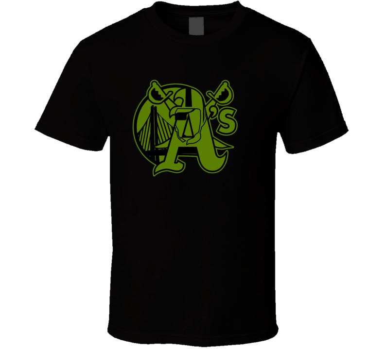 Oakland Sport Teams Mashup Basketball Baseball Football Re Color 8 Fun Fan T Shirt