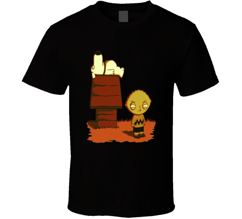 Charlie Brown Snoopy Stewie Brian Mashup Parody Fun Fan T Shirt