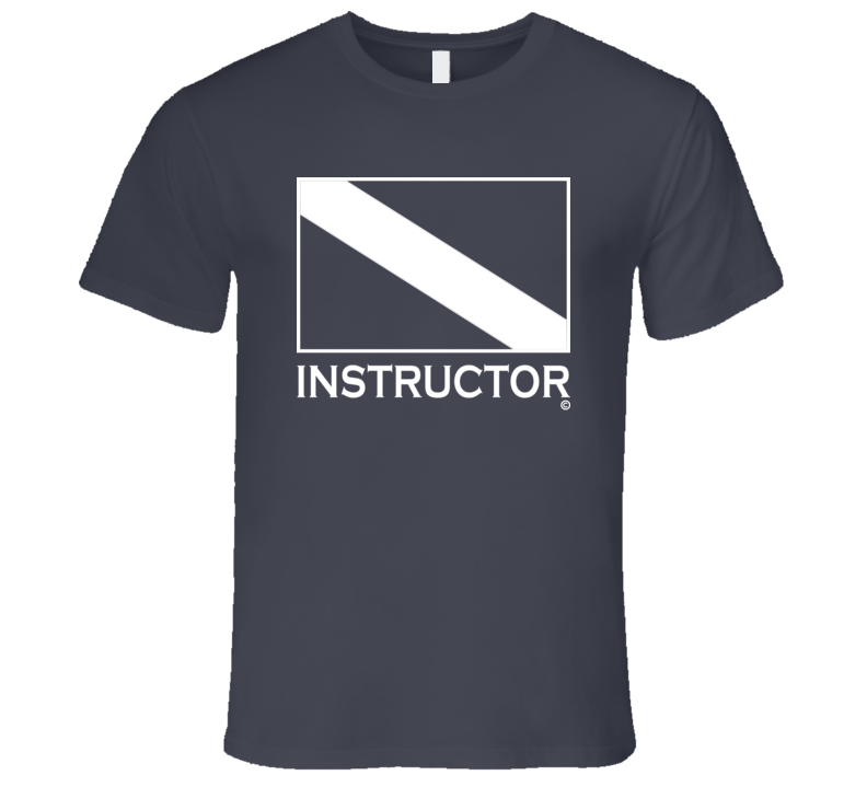 INSTRUCTOR Scuba Diver Tee Shirt - Mens Fitted