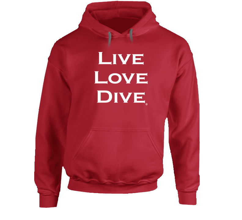 LIVE LOVE DIVE Hoodie - Unisex