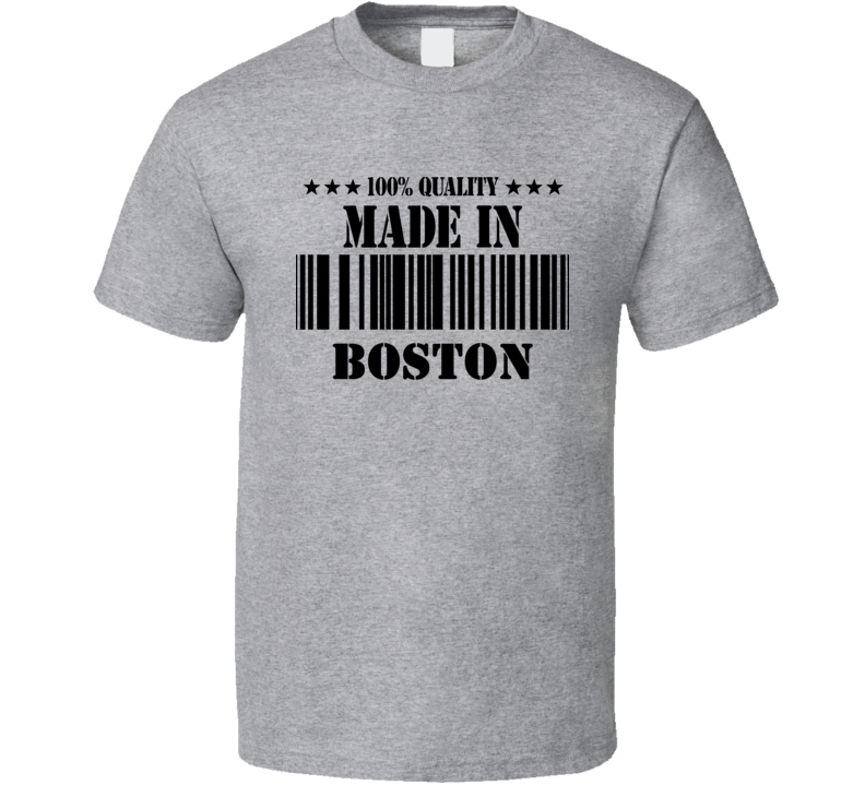 Made In Boston Custom T Shirt