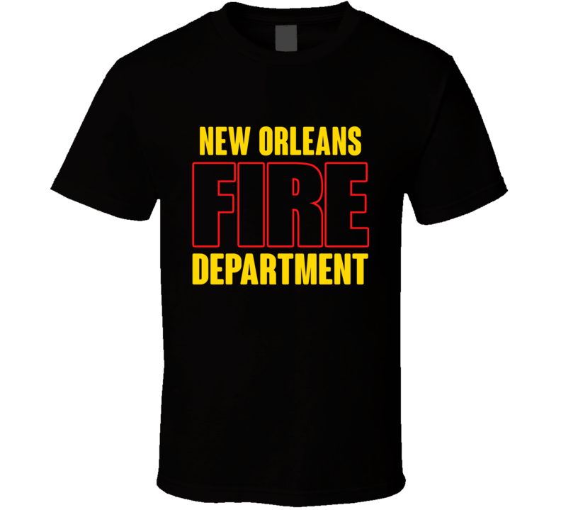 New Orleans Fire Department Personalized City T Shirt
