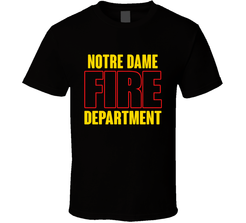 Notre Dame Fire Department Personalized City T Shirt