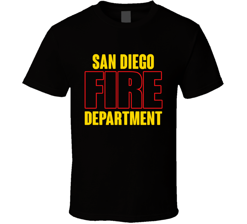 San Diego Fire Department Personalized City T Shirt