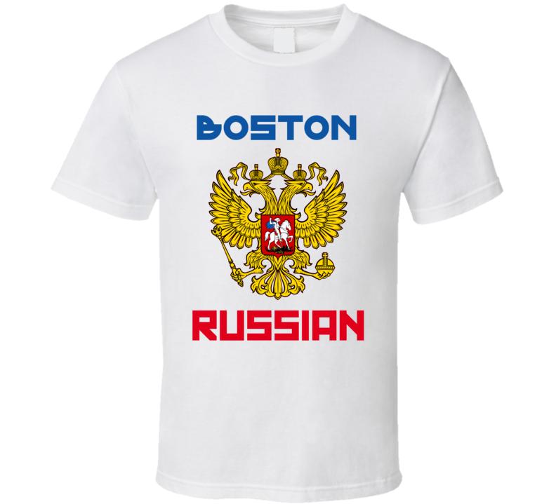 Boston Russian  Coat Of Arms Custom T Shirt