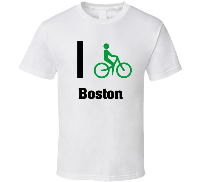 I Bike Boston Custom T Shirt