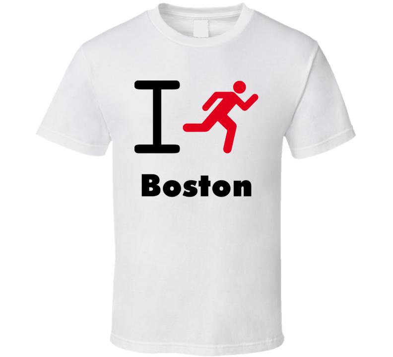 I Run Boston Custom T Shirt