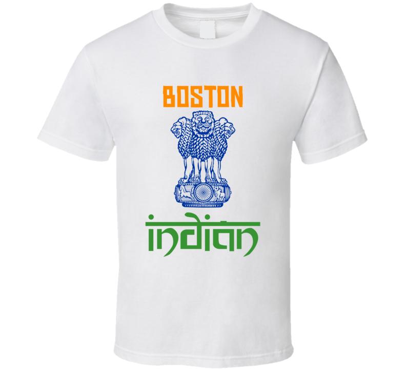 Boston Indian Custom T Shirt